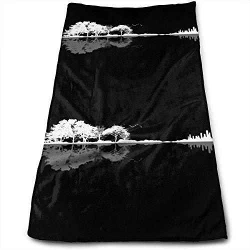 Hectwya Natur Gitarre Mikrofaser Schnelltrocknend Handtücher Reisetuch Strandtuch 30 x 70 cm