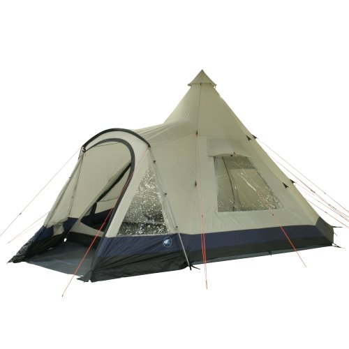 10T Apache 600+ - 12 person teepee tent, sewn in ground sheet, large sleep compartment, WS=5000 mm