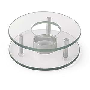 Stövchen 1-flammig Glas Edelstahl 12,5 x 4 cm