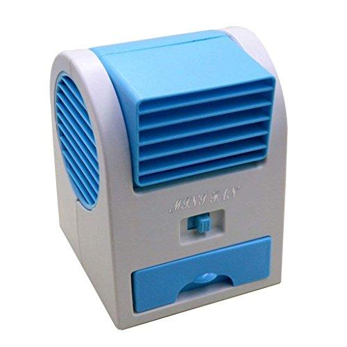 Millya - Ventilador pequeño portátil USB sin palas doble para el escritorio...