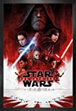1art1® Star Wars Poster et Cadre (MDF) - Star Wars VIII, Les Derniers Jedi, Affiche Principale (91 x 61cm)