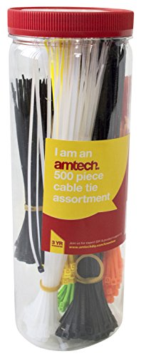Preisvergleich Produktbild Am-Tech 500 Stück Assorted Cable Tie, S0680