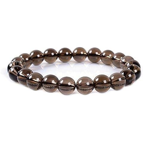 amandastone Gem semi preziosa gemma 10mm perline braccialetto elastico con 7
