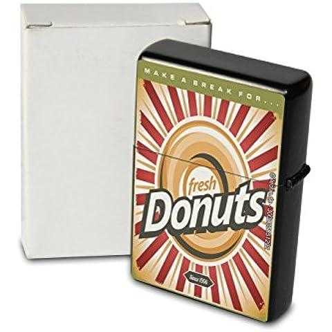Accendino Benzina Ricaricabile Antivento Donuts