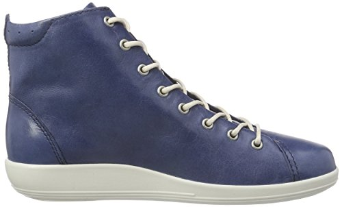 ECCO SOFT 2.0 Damen Hohe Sneakers Blau (DENIMBLUE 1086)