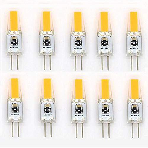 10 X 3W COB G4 Bombilla LED Bi-Pin Lámpara de luz Bombillas halógenas Reemplazo 3000K / 6000K 220LM 1 SMD 1505 Omni Direccional 360 grados Ángulo de haz Ahorro de energía Bombilla de vela led