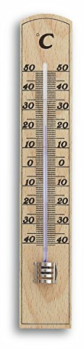 ermometer, Natur, 3.5 x 1.5 x 20 cm (Holz Innen Thermometer)