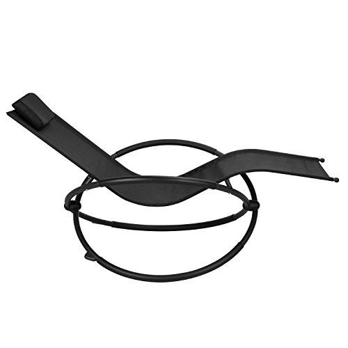 Design Schaukelliege ACAPULCO Relaxliege Sonnenliege Neues Modell 2017 - Schaukelfunktion - mit Kopfkissen