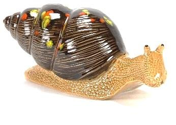 tangoo Céramique Jardin Figurine escargot Maison Marron, long 26 cm