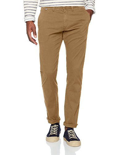 Tommy Jeans Herren Original Slim Fit Chino  Chino Hose Beige (Kelp 373) W30/L30 Beige Chino