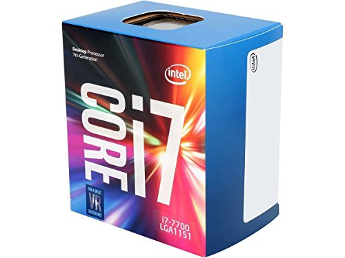 Intel Core i7-7700 Prozessor der 7. Generation (bis zu 3.6 GHz mit Intel Turbo-Boost-Technik 2.0, 8 MB Intel Smart-Cache)