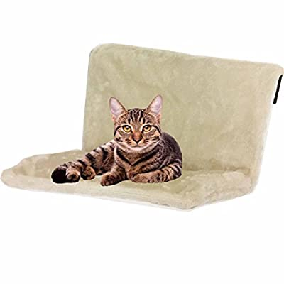 BDUK Warm and Cosy Pet Cat and Dog Radiator Bed – Strong and Durable Hanging Hammock Style Radiator Cradle Bed for Small Pet Cat Kitten Puppy Dog with Soft Machine Washable Plush Faux Fur Cover and Collapsible Frame for Easy Storage