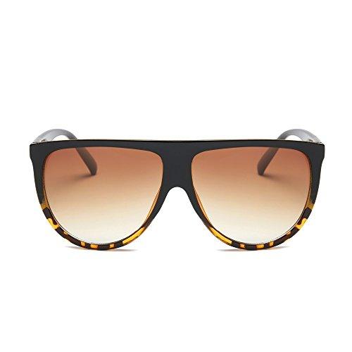 DAY.LIN Sonnenbrille Damen Herren Mode Unisex Vintage Shaded Objektiv dünne Brille Mode Flieger Sonnenbrille (B)