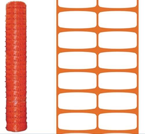 Rete per recinzione cantieri arancio rotolo 50 mt h 100