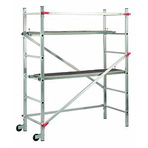 Hailo 1-2-3 300 – Andamio de aluminio con sistema»Hailo Speed Lock», 180 x 163 x 68 cm (altura max. de trabajo: 2,90 m)