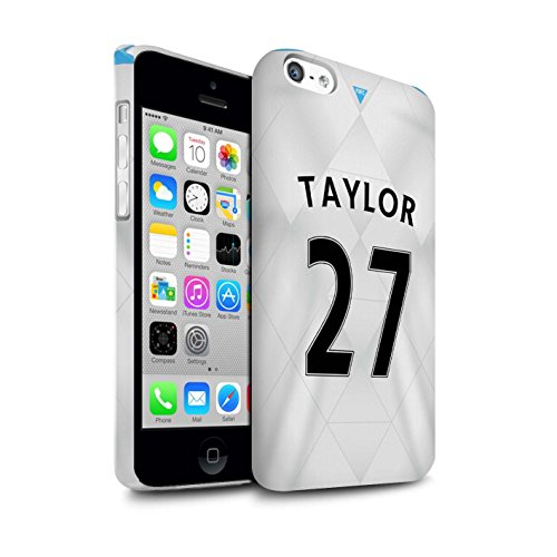 Offiziell Newcastle United FC Hülle / Matte Snap-On Case für Apple iPhone 5C / Pack 29pcs Muster / NUFC Trikot Away 15/16 Kollektion Taylor