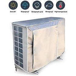 Oyfel. Couverture Extérieure De Climatiseur Housse pour Climatiseur Extérieur Couverture Imperméable Anti-UV Anti-poussière Oxford Enduit d'argent,98 * 40 * 75CM (1 pièce)