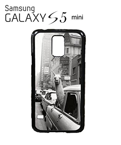 LLama Lama in the Car Vintage Retro Funny Hipster Swag Mobile Phone Case Back Cover Hülle Weiß Schwarz for Samsung Galaxy S5 Mini Black