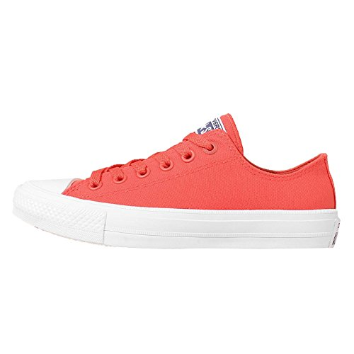Converse Chuck Taylor All Star Ii, Baskets Basses Mixte Adulte, White Gum White Rouge - Rouge