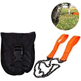 Fansport Wire Saw Camping Pocket Saw Survival Chainsaw with Storage Pouch