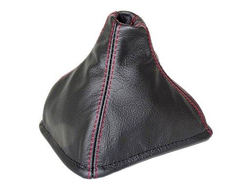Per Lotus Elan M1001989-95Gear ghetta in pelle nera cuciture rosse