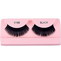 Confidence Thick Long False Eye Lashes For Women And Girls, Black, 10 Gram, Pack Of 1