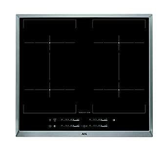 AEG HKE 64450x de B Plaque Électrique/induction/57,6cm/Zones de Cuisson Flexible/facile à utiliser/Acier inoxydable