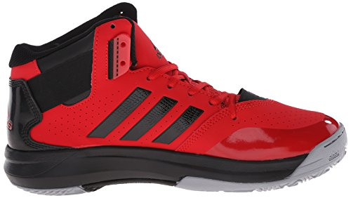 Adidas Performance 2 chaussure de basket surpasser, noir / lumière Onix / argent métallisé, 6,5 M scarlet/black/white