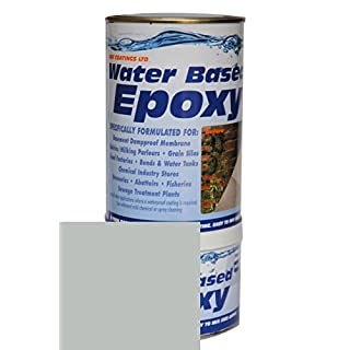 Damp Proof Epoxy Resin Water based Paint for Garages, Walls, Basements and Tanks - 1L (Grey)