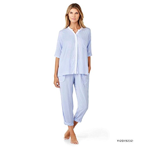 dkny-peri-stripe-capri-pyjama-lounge-set-small-blue