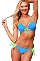 Demarkt Fashion Maillot de Bain pour les Femmes/ Swimwear Bustier Push Up Deux Pieces Bikini/ 6 Couleur a Choisir/ Taille S/M/L