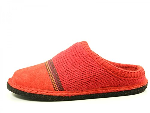 Haflinger 313054 Flair Seventies Chaussons femme homme Rouge