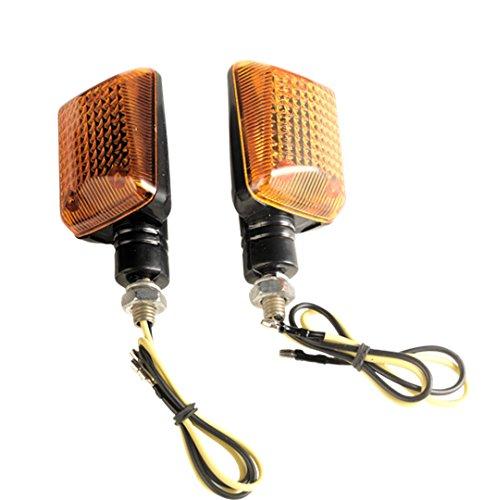VIPER MOTO Accessories Motorrad-Zubehör Beleuchtung Blinkerleuchten 110Bernsteinbirne-Blinker Set, Black, Short