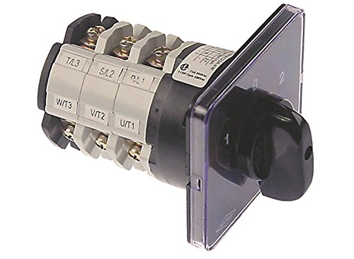 BREMAS CS0257088 Drehschalter für Pizzaofen Cuppone EVOLUTION MECHANICAL, MAX 4/35X 3-polig 600V Schraubanschluss Achse 5x5mm 6