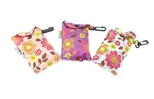 Gifts For Her Sac de courses pliable avec clip de fixation Motif floral