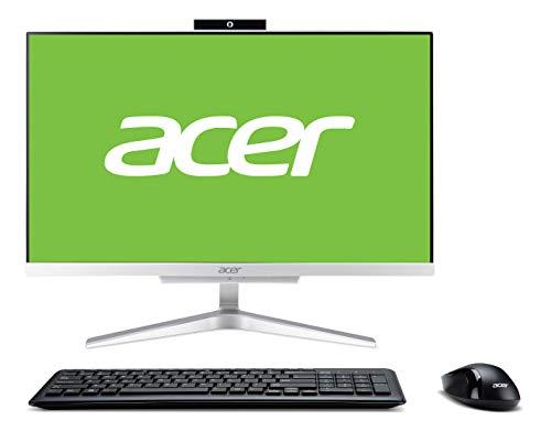 Acer Aspire C22-865 All-in-One Desktop-PC (Intel Core i5-8250, 8 GB RAM, 1 TB HDD, Intel UHD Graphics 620, Windows 10 Home) Silber
