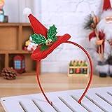 Gaddrt Weihnachts-Stirnband Heiße Weihnachten Stirnband Santa Xmas Party Decor doppelte Haarband Haken Kopf Hoop (A)