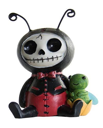 Horror-Shop Kleine Dots Furrybones Figur Marienkäfer - die Geschenkidee für Gothic Fans