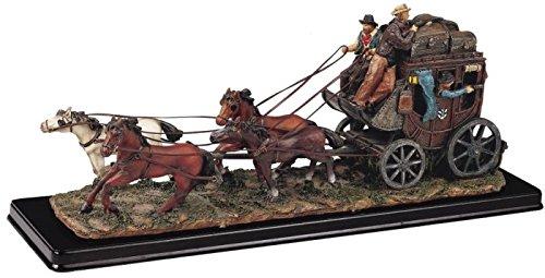 GSC Postkutsche mit Sammelfiguren Pferde Cowboy Dekoration Figur