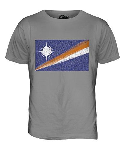 CandyMix Marshallinseln Kritzelte Flagge Herren T Shirt Hellgrau