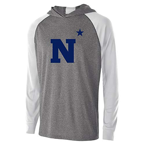 Ouray Sportswear NCAA Navy Youth Echo HoodieYouth Echo Hoodie, Graphite Heather/White, L