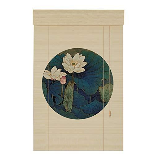 CAIJUN Tenda di bambù Stampa Filtraggio della Luce Parasole Anti-UV Addensare HD al Coperto, 4 Stili, Personalizzazione delle Taglie (Colore : C, Dimensioni : 100x200cm)