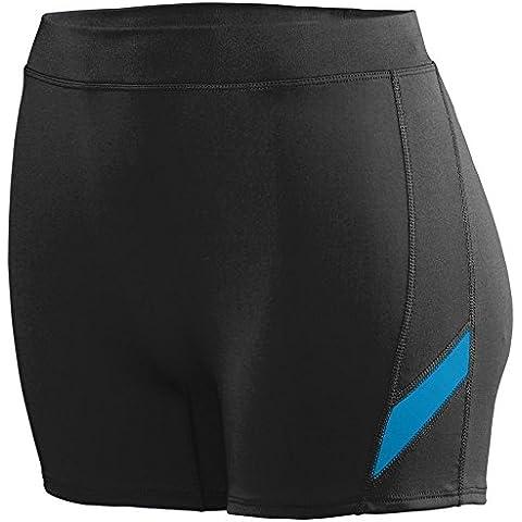 Augusta -  Pantaloncini sportivi  - Donna Multicolore Black/Power Blue XL