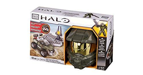 Mega Bloks 97216–Halo Micro de Fleet Warthog (Helmet), construcción de Juguete