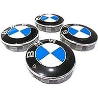 4 x nuevo BMW 68 mm Azul Blanco Logo insignia emblema rueda centro tapacubos tapas serie 1 3 4 5 6 7 8 X1 X3 X4 X5 X6 Z3 Z4 36136783536 36131095361 36136768640 E36 E38 E39 E46 E53 E60 E61 E63 E64 E65 E66 (68mm)
