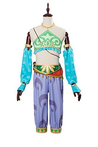 Zelda Prinzessin Kostüm - The Legend of Zelda: Breath of the Wild Link Outfit Cosplay Kostüm Damen M