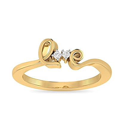 PC Jeweller The Aashka 18KT Yellow Gold & Diamond Rings
