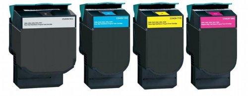 4X Eurotone Toner C 540 für Lexmark Optra ersetzt C540 - ersetzt alle - Optra Farbe