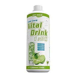 Best Body Nutrition Vital Drink, Lemon Lime, 1000ml Flasche