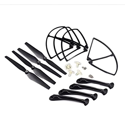 YouCute Spare Part Kit for syma X8C X8W X8G Rc Quadcopter Drone Black blade landing gear protecting frame main gear